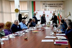 Българският Червен кръст с почетен плакет