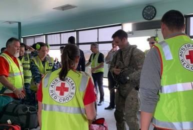 Австралийският Червен кръст помага на пострадалите от пожарите